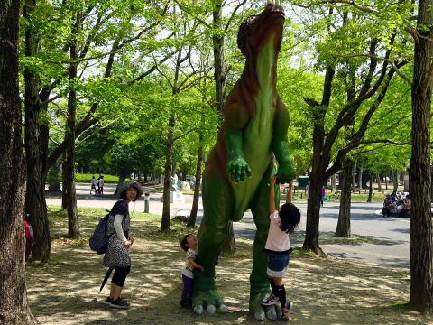 豊橋市のんほいパークの恐竜たち